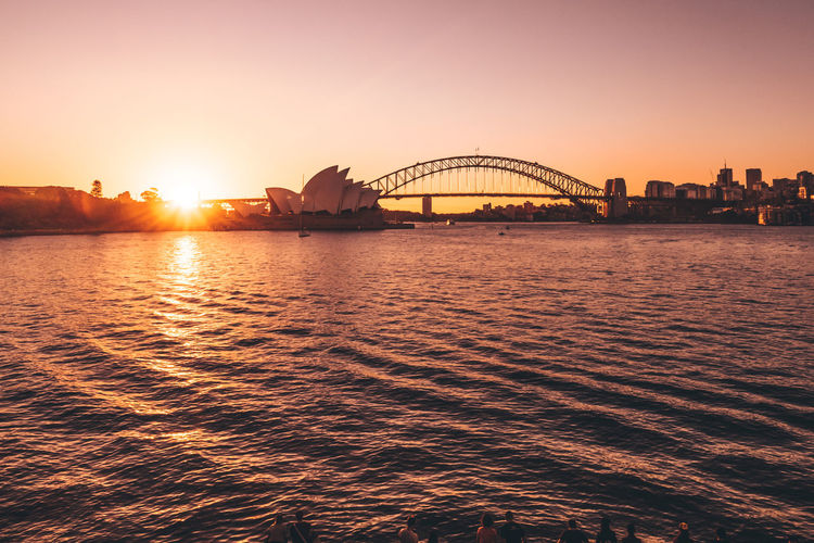 Architecture Australia Bridge - Man Made Structure Built Structure City Day Evening Habour Harbourbridge Holiday Icon Magic Moments Ocean Operahouse Outdoors Silhouette Sky Sunset Sydney Tranquility Travel Destinations Urban Warm Water