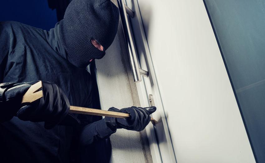 Burglars opening terrace door