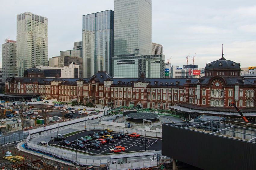 Landscape Landscape_Collection Tokyo Station Train Station Bilding Architecture Architecture_collection Streetphotography Structure Cityscapes Taking Photos Eye4photography  From My Point Of View