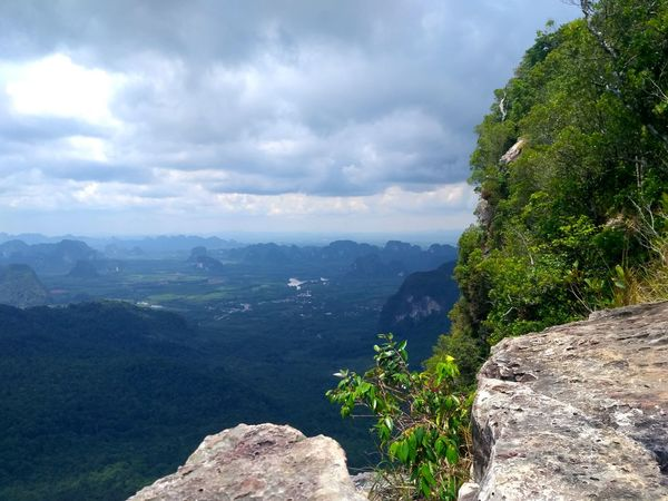 Krabi, Thailand Cliff Cliffs Scenics - Nature Landscape Sky Tree Land Cloud - Sky Travel Beauty In Nature Mountain Forest Nature Plant Travel Destinations Rock - Object Place Of Worship No People Tourism Nature Rock Travel Horizon Over Water Ocean View Sea View