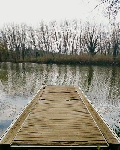 Water Lake Wood - Material Outdoors Day Nature No People Tree Tranquility Grass Pier Riu Nature_collection Naturephotography Bauty In Nature Enbarcadero Sky