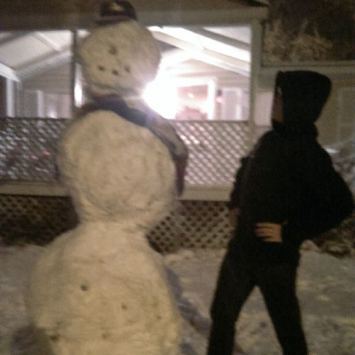 What my one eyed snowman lacks in beauty, it makes up for it in size.??