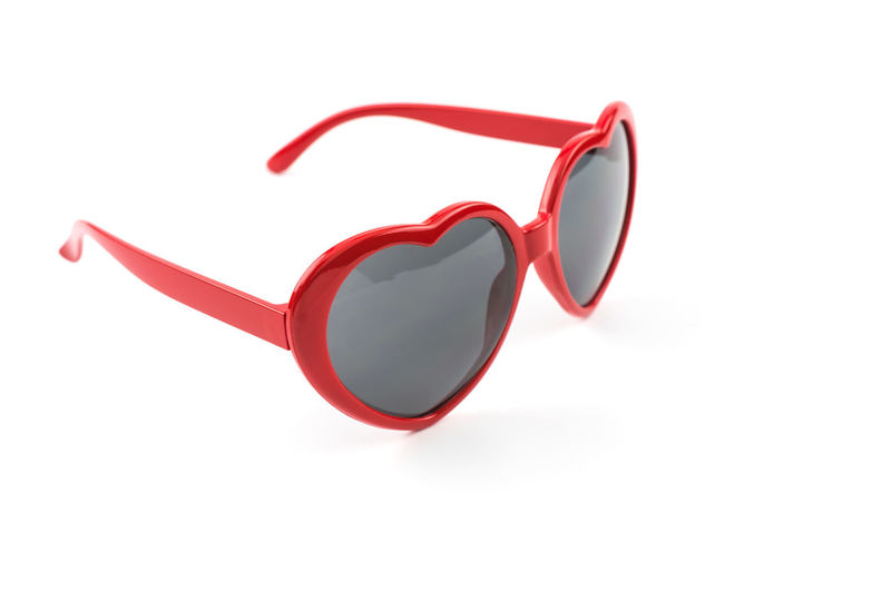 Red heart shaped sunglasses isolated on white background, summer holidays, valentines day, travel. Accessory Background Beautiful Beauty BIG Blue Brown Cheerful Closeup Color Eye Eyes Fashion Female Fun Glasses Happiness Happy Heart Hipster Illustration Isolated Lifestyle Love Model Modern Object Plastic Protection Red Reflection Retro See Set Shape Shaped Shiny Spring Studio Style Summer Sun Sunglasses Sweet Valentine Vector Vintage White Women Young