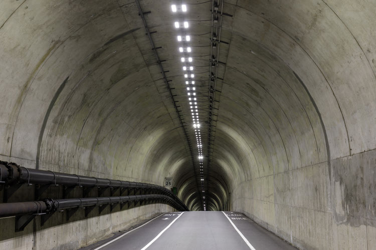 View of empty tunnel