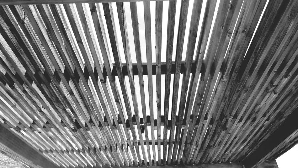 Wooden Roof Open Roof Sunny Sky Blackandwhite Outdoors Daytime New Mexico U.S