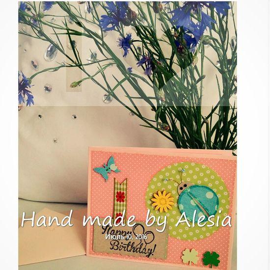 My Work MyWorld ♡ Handmade Gift Card Hand Made Card