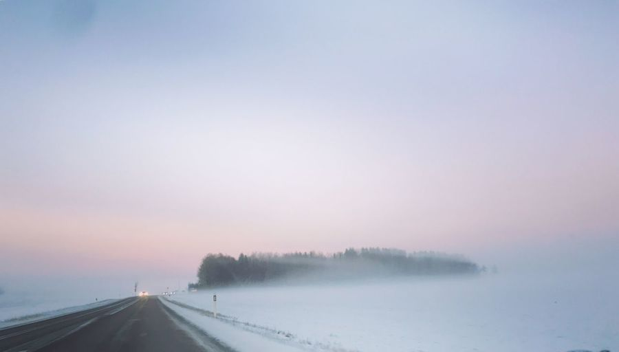 Winter Cold Temperature Snow Weather Nature Transportation Road Fog Beauty In Nature Outdoors No People Day
