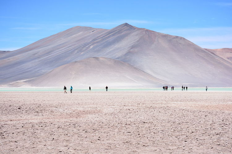 landscape of mountains and salt flats in Atacama desert, Chile Atacama Desert Desert Plants Nature Salt Flats Desert Landscape Landscape Mountain Range Rocky Desert Rocky Mountains