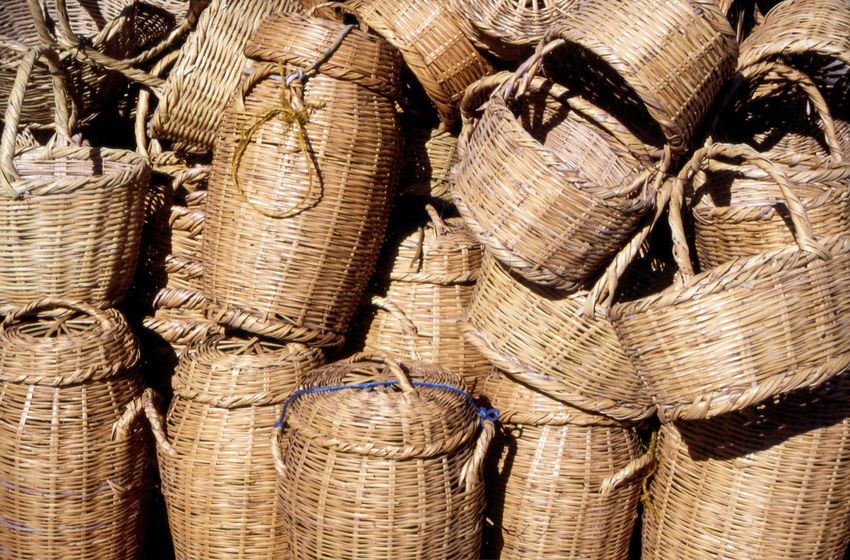 Basketware, Gabes market, Tunisia, North Africa North Africa Travel Photography Tunisia Wickerwork Backgrounds Basket Close-up For Sale Full Frame Gabes Large Group Of Objects Marketplace Merchandise No People Outdoors Souk Stack Textured  Tourism Traditional Tunisian Wicker Basket