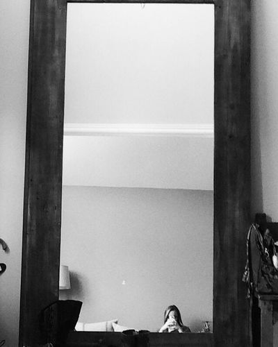 Mirror mirror Real People Mirror Indoors  Lifestyles Close-up House Life Monochrome
