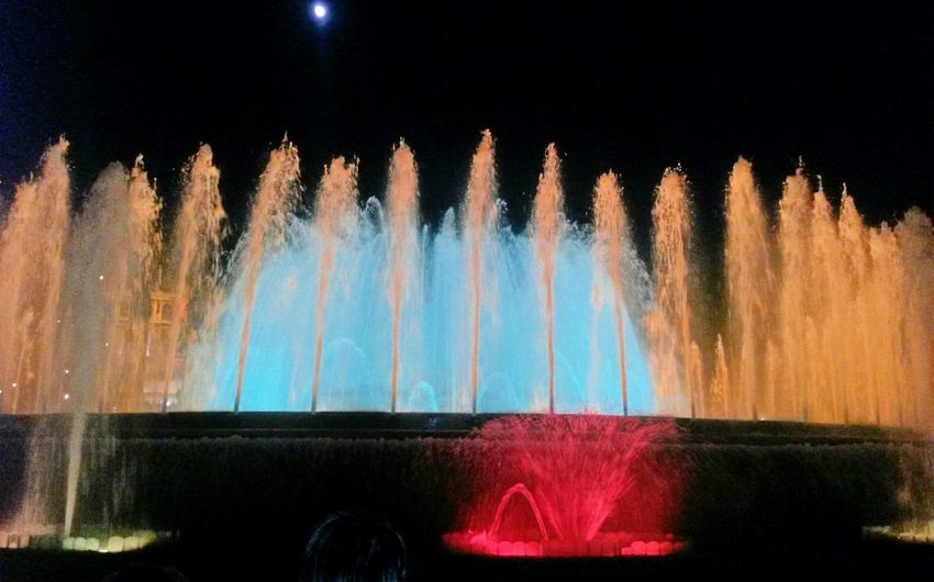 Cities At Night LED Light Night Nightphotography Photography Photo Photographer Fountain Water Red Europe Eurotrip SPAIN Barcelona Beautiful City