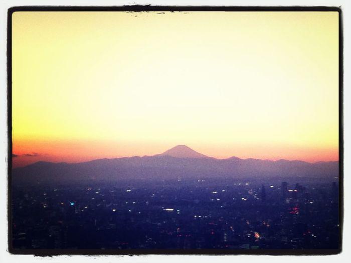 東京スカイツリーからの富士山!