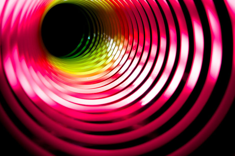 Black Hole Backgrounds Circle Close-up Colorful Creativity Curve Full Frame Green Color Hole Light Painting Macro Multi Colored No People Pink Color Red Spiral Spring Tunnel Vibrant Color