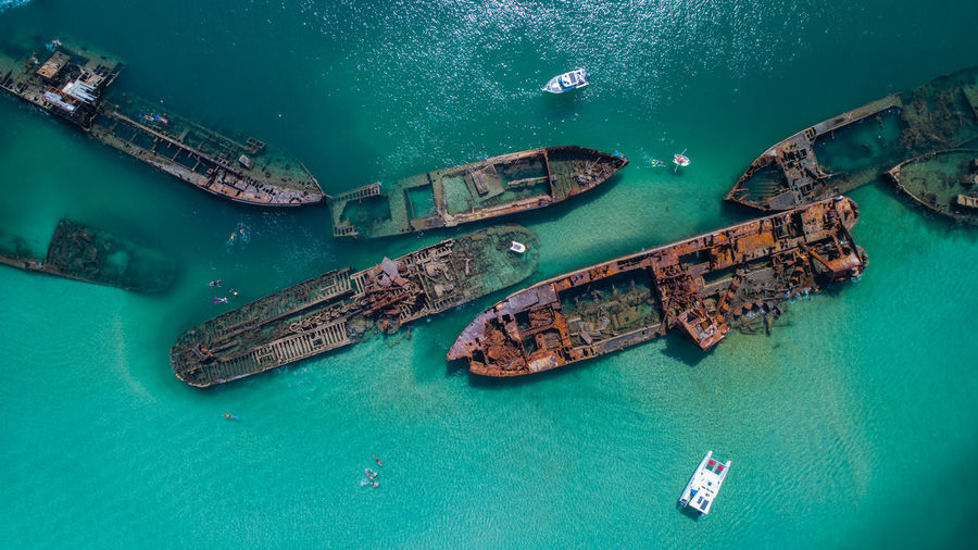 Aerial Footage of the old whaling ships at Tangalooma on Moreton Island, Queenslad Nautical Vessel Transportation Mode Of Transportation Turquoise Colored Water Ship High Angle View Sea Nature Aerial View Waterfront No People Day Beauty In Nature Shipwreck Tranquility Outdoors Architecture Travel Passenger Craft Wreck Queensland Moreton Bay Drone  Dronephotography