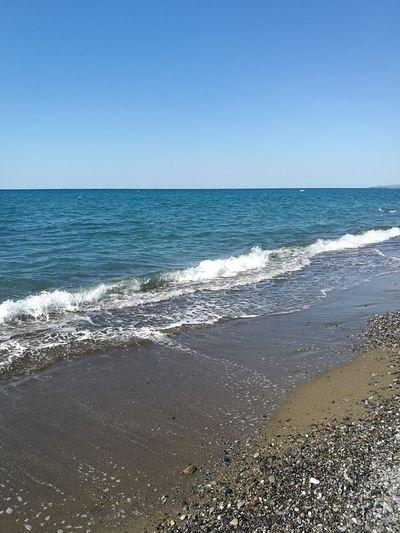 Water Clear Sky Wave Sea Beach Blue Sand Backgrounds Summer Sunlight