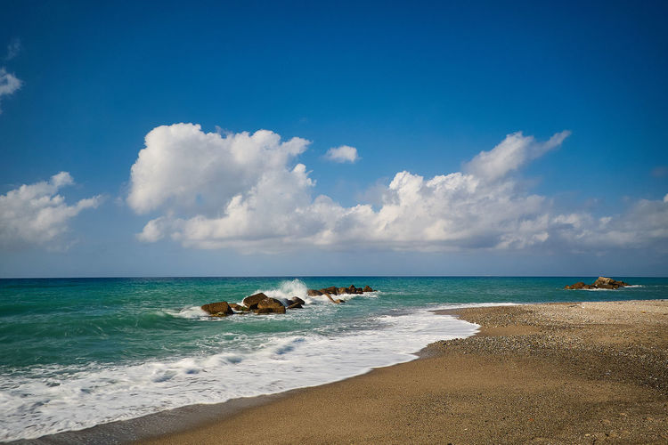 Beach of Rodia (Messina) Mediterranean  Sicily Beach Beauty In Nature Cloud - Sky Day Horizon Over Water Italy Mammal Messina Nature No People Outdoors Rodia Sand Scenics Sea Sky Tranquil Scene Tranquility Water Wave