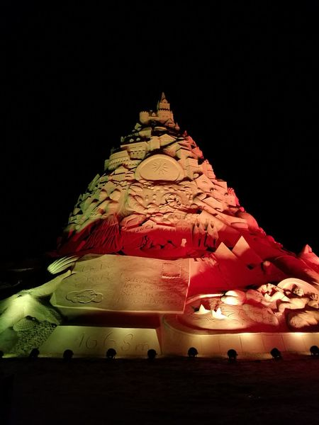 The World Biggest Sand Castle Night Illuminated No People Outdoors Multi Colored Sandcastle Sandcastles GERMANY🇩🇪DEUTSCHERLAND@ Duisburg | Germany Landschaftspark Duisburg-nord Huawei P9 Leica Summer Plant Nature Beauty In Nature Architecture