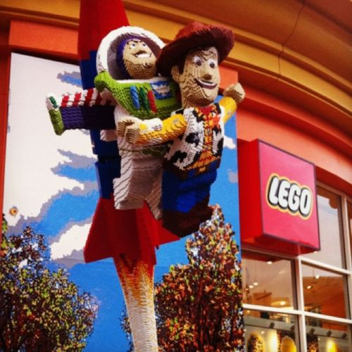 Downtown Disney. Lego store. Buzz and woody :)