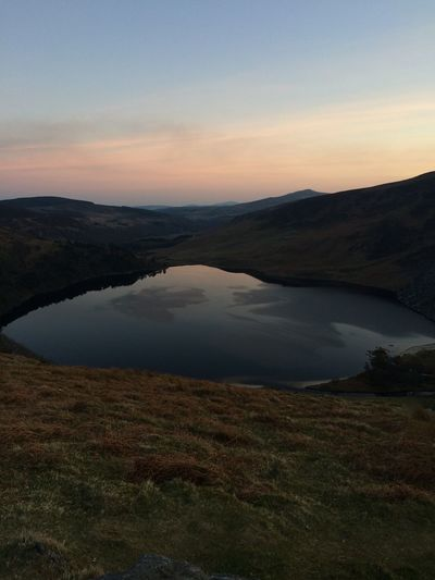 Beauty In Nature Evening Sky Idyllic Ireland Lake Luggala Mountain Mountain Range No People Non-urban Scene Outdoors Reflection Remote Scenics Sky Tranquil Scene Tranquility Water Wicklow