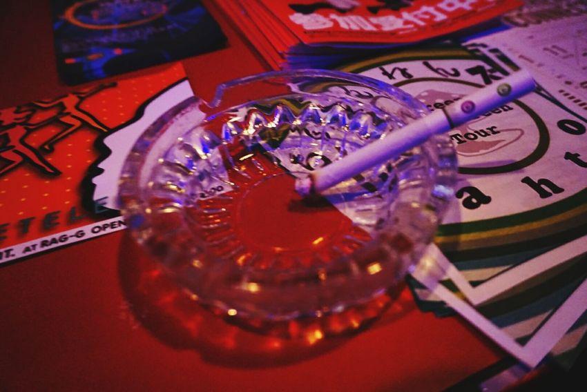 In Japan Saga,Japan Club Night Club Flyers Cigarette  Good Music. Red