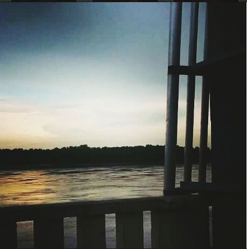 Muddy waters and sunsets Missippiriver Capegirardeau Sunset