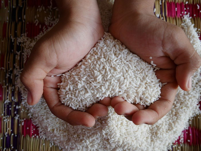 Rice in the hands of the farmer Farmer Hope Rice Close-up Day Food Food And Drink Grain Rice Hand Hand Holding Rice Hand Scoop Rice Healthy Eating Heart Holding Human Body Part Human Hand Indoors  Lifestyles One Person People Real People Rice - Cereal Plant Rice Grains Rice In Hands Women
