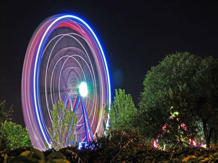 España🇪🇸 Spain♥ Manu García Noria, Feria Noria Noche Night Nightphotography Luces Lights Long Exposure Largaexposicion Feria