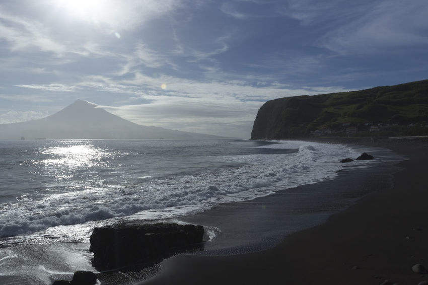 Azores Portugal The Week On EyeEm Azores, Faial Beach Beauty In Nature Day Faial Island Horizon Over Water Mountain Nature No People Outdoors Scenics Sea Sky Tranquil Scene Tranquility Water Wave