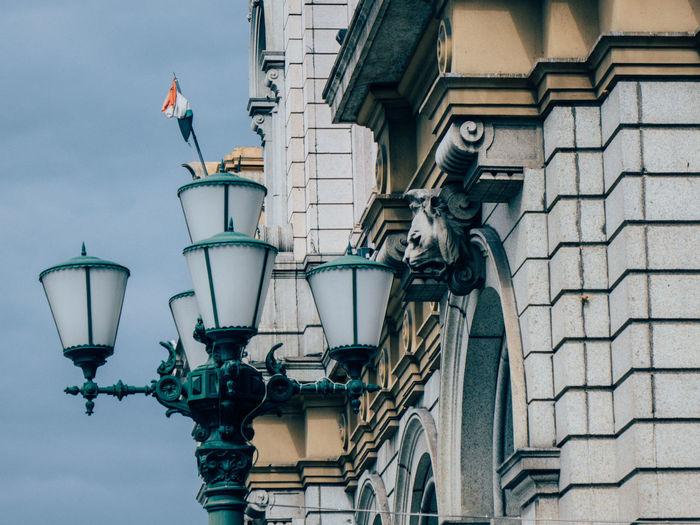 Genova Italy Street Lights Daylight Day Street