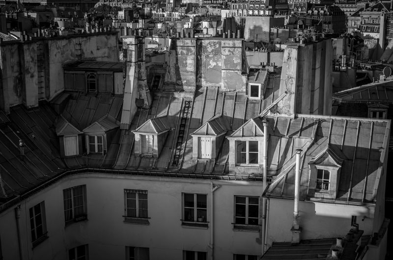 Paris rooftops Architecture Blackandwhite Bnw Bnw_captures Bnw_collection Bnw_friday_eyeemchallenge Building Exterior Built Structure City No People Outdoors Paris Paris Rooftops Parisian Rooftop Rooftop Rooftops