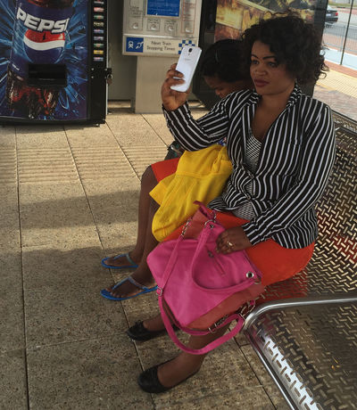 Colourful Iphonephotography IPS2016People Selfie Sitting Streetphotography