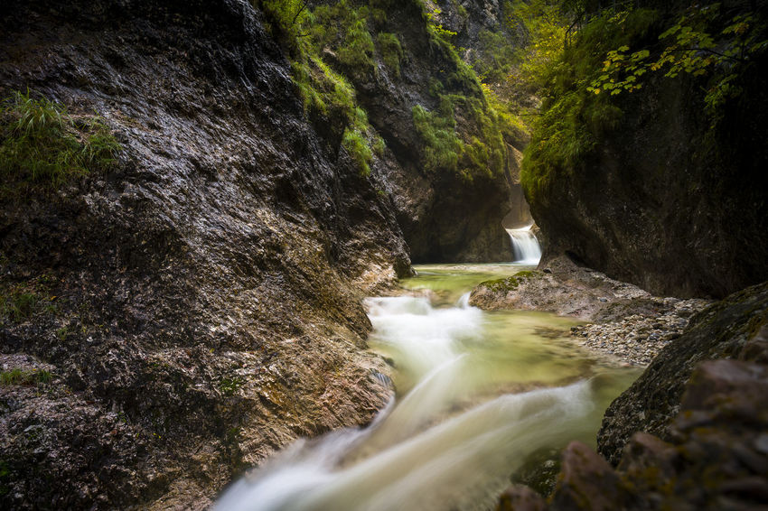 Bavaria German Klamm Riverside Beauty In Nature Day Motion Mountain Nature No People Outdoors Power In Nature Purity Rapid River Rock - Object Scenics Tourism Water Waterfall Perspectives On Nature