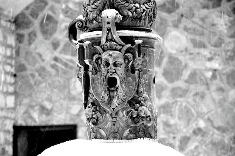 Peles Castle Pelescastle Peles House Monument Blavk And White Romania
