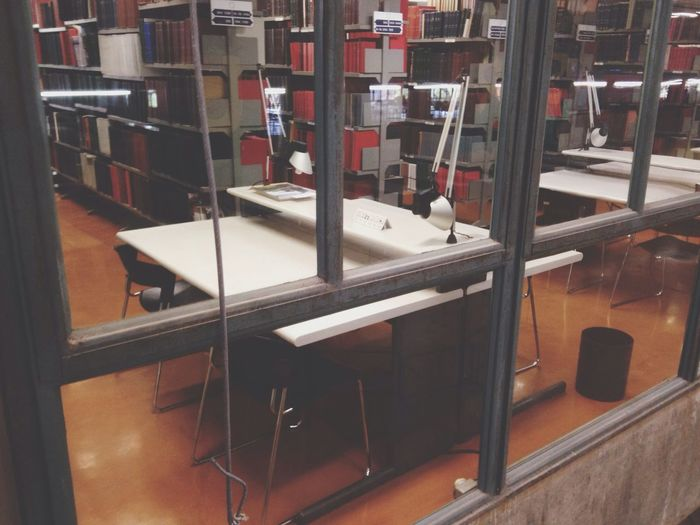 Library Desk Books Window
