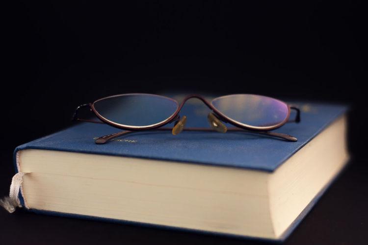 Black Background Book Close-up Day Education Eyeglasses  Eyesight Eyewear Indoors  No People Reading Glasses Still Life Sunglasses Table