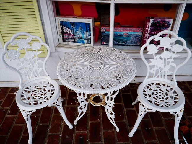 Streetphotography Bright Bright Day Table Table Setting Chairs White White Furniture Decorative Decoration No People Close-up Day
