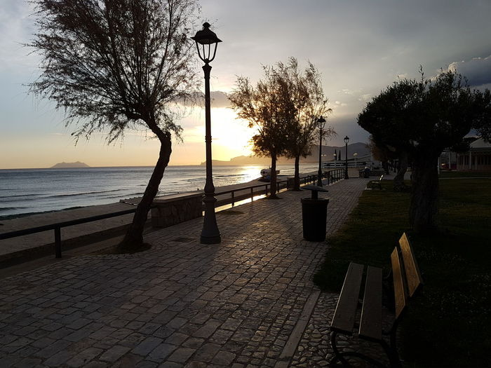 Sperlonga italy Tree Silhouette Sea Beach Sunset Horizon Over Water Water Cloud - Sky Sky Outdoors No People Shadow Nature Beauty In Nature Day