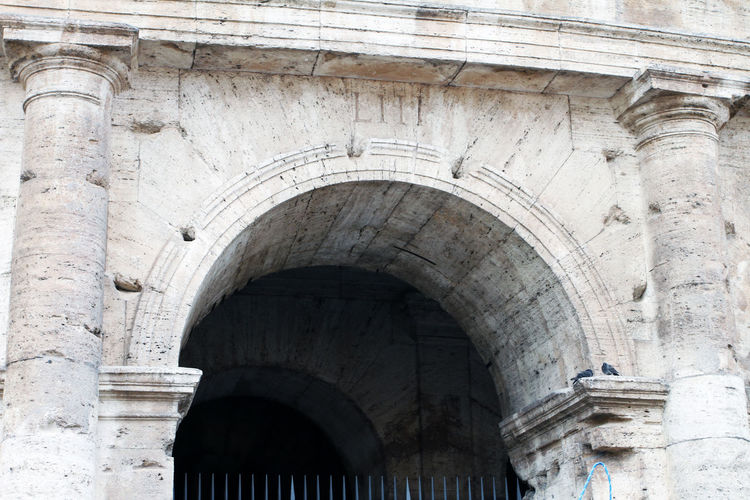 Ancient Arch Architectural Column Architectural Feature Architecture Building Exterior Built Structure Colosseum Day History Low Angle View Nature No People Old Outdoors Religion Solid Stone Material The Past Travel Travel Destinations
