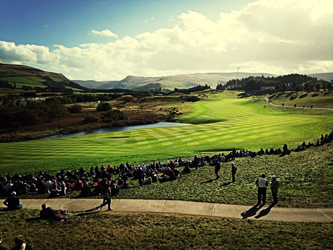 9th hole at Gleneagles Golf Europe Rydercup Scotland