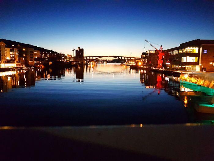 Bergen minpuReflectionden norway Illuminated Night City Sky Outdoors No People Sunset Water Architecture Cityscape First Eyeem Photo