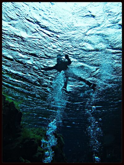 Scuba Diving Underwater Photography Iceland Cold Blue Wave Diving Snorkeling Swimming Pingvellir Winter Water