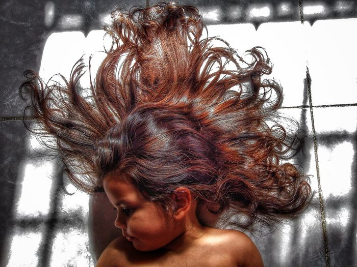 Sun, sand and sea = Summer hair!... Childhood Close-up Place Of Heart Headshot Home Interior Human Hair Indoors  Leisure Activity Lifestyles Live For The Story One Person Real People Summer Summer Hair Young Adult