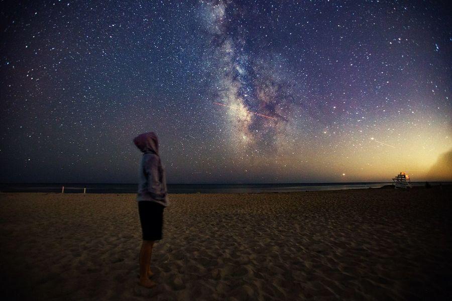 I can see the star from America 🎶 Milky Way Galaxy Night Sky Traveller USA New York City Canon 6D Hampton Beach