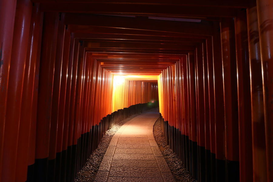 Kyoto Fushimi Inari Shrine Shrine Gate Japan