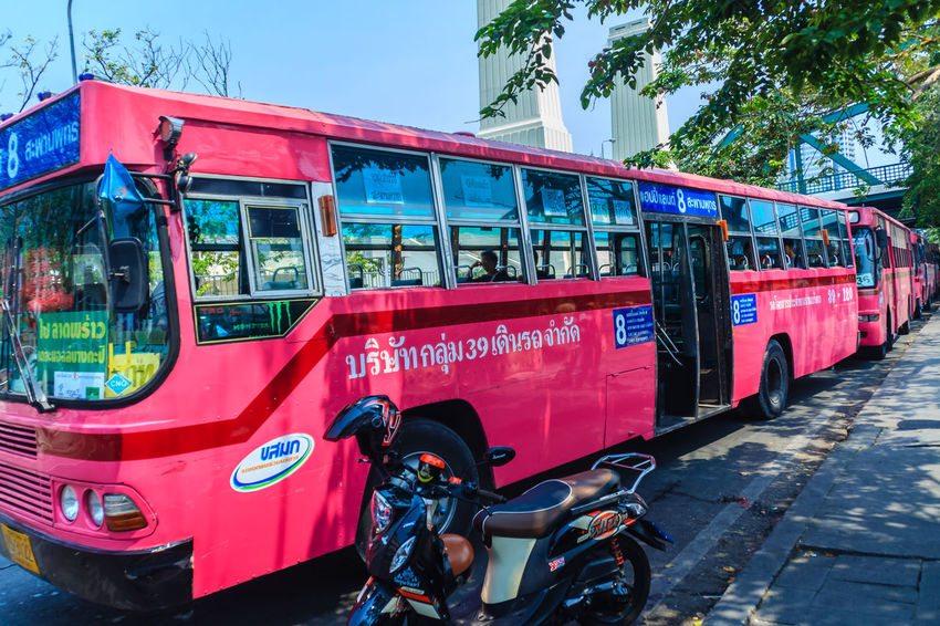 Bangkok, Thailand - March 2, 2017: Pink bus line number 8, starting point from the memorial bridge (Saphan Phut) to Happy Land, Minburi. Bus nummber 8 line is famous of fast and swiftly in Bangkok. Bus Trip Bus Terminal Station - Entrance Number 8 Pink Pink Bus Saphan Phut Adult Architecture Bicycle Bus Bus Line Bus Terminal Bus Travel City Communication Day Fast And Furious Fast And Furious 8 Fast And Swiftly Group Of People Happy Land Incidental People Land Vehicle Memorial Bridge Men Minburi Mode Of Transportation Outdoors People Public Transportation Real People Red Street Swiftly Text Transportation Travel
