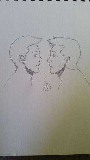 Drawing Destiel