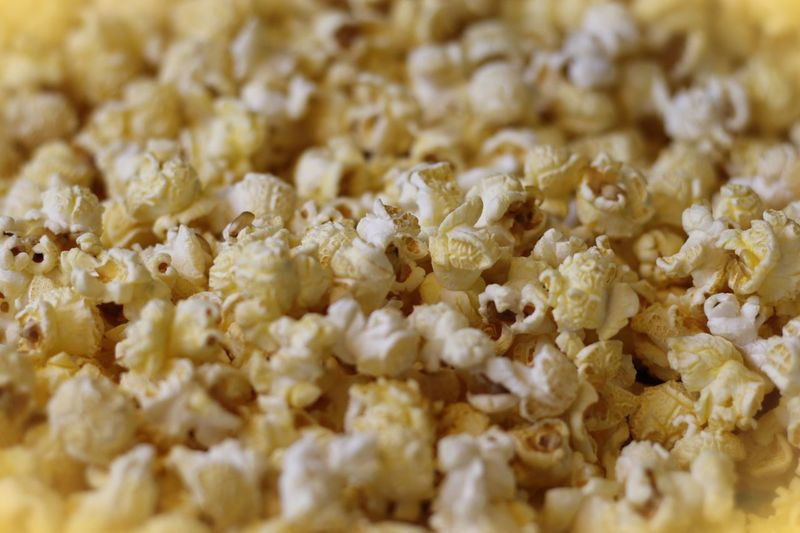 Full frame shot of popcorns