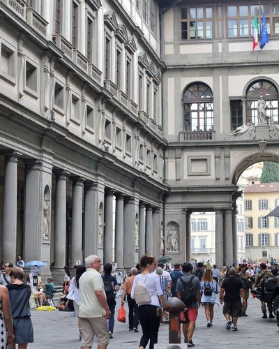 Architecture Large Group Of People Built Structure Real People Building Exterior Women Men Architectural Column Travel Destinations Day Lifestyles City Outdoors People Adult Adults Only Travel Florence Italy Firenze Italy History