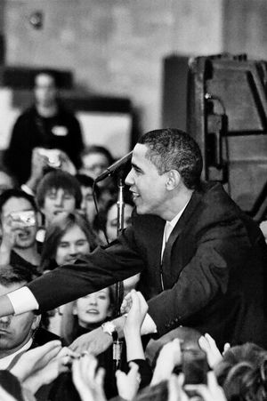 Barack Obama Black & White Obama Obama 2008 Speech Adult Adults Only Arts Culture And Entertainment Auditorium Barackobama Black And White Black And White Photography Black&white Blackandwhite Blackandwhite Photography Blackandwhitephotography Campaign Rally Campaign Speech Classical Music Day Education Event Indoors  Large Group Of People Learning Men Music Musician Occupation People Performance Politics Politics And Government Presidential Campaign 2008 Presidential Election Real People Street Photography Streetphotography Student Stump Speech