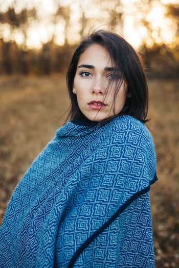Eyes on you Adult Autumn Beauty Close-up Cold Cold Temperature EyeEm Eyes Human Body Part Looking At Camera Nature One Person Outdoors People Poncho Portrait Sunset TeamCanon Winter Women Young Adult Young Women
